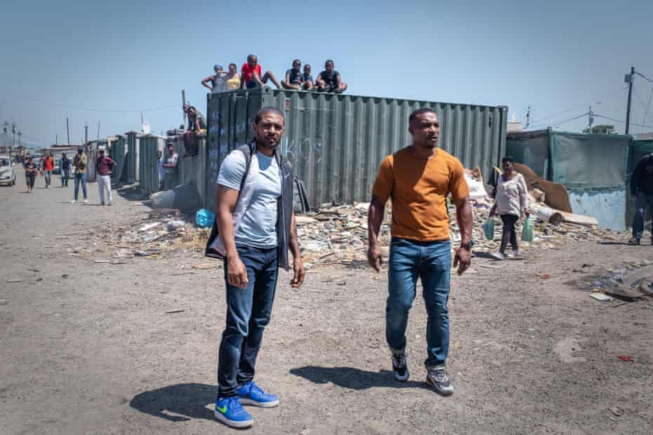 Clarke with Ashley Walters in Bulletproof: South Africa.