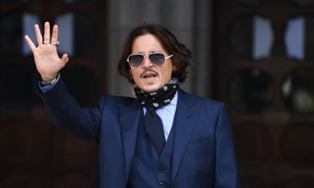 Johnny Depp arrives at the High Court in London on Tuesday for the sixth day of his libel trial against the Sun.