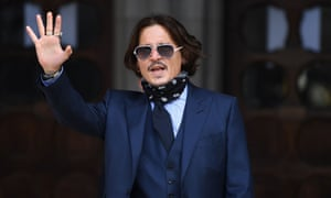 Johnny Depp arrives at the high court in London for the sixth day of his libel trial against News Group Newspapers