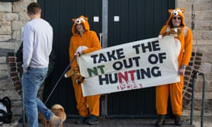 Trail hunting protest