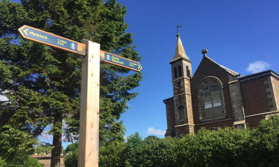 The route passes St Kenneth's church, a few miles from Markinch.