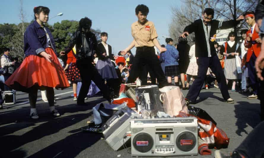 Young dancers in Harajuku, 1982.