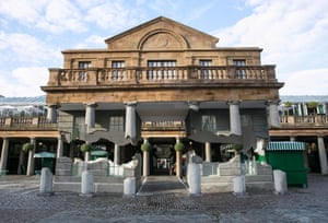 A section of Covent Garden's Market Building appeared to break free from its foundations and float into the sky today as part of Take my lightning but don't steal my thunder, a work by the British artist Alex Chinneck.