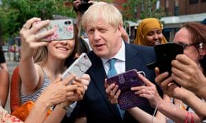 Boris Johnson in Birmingham on 26 July