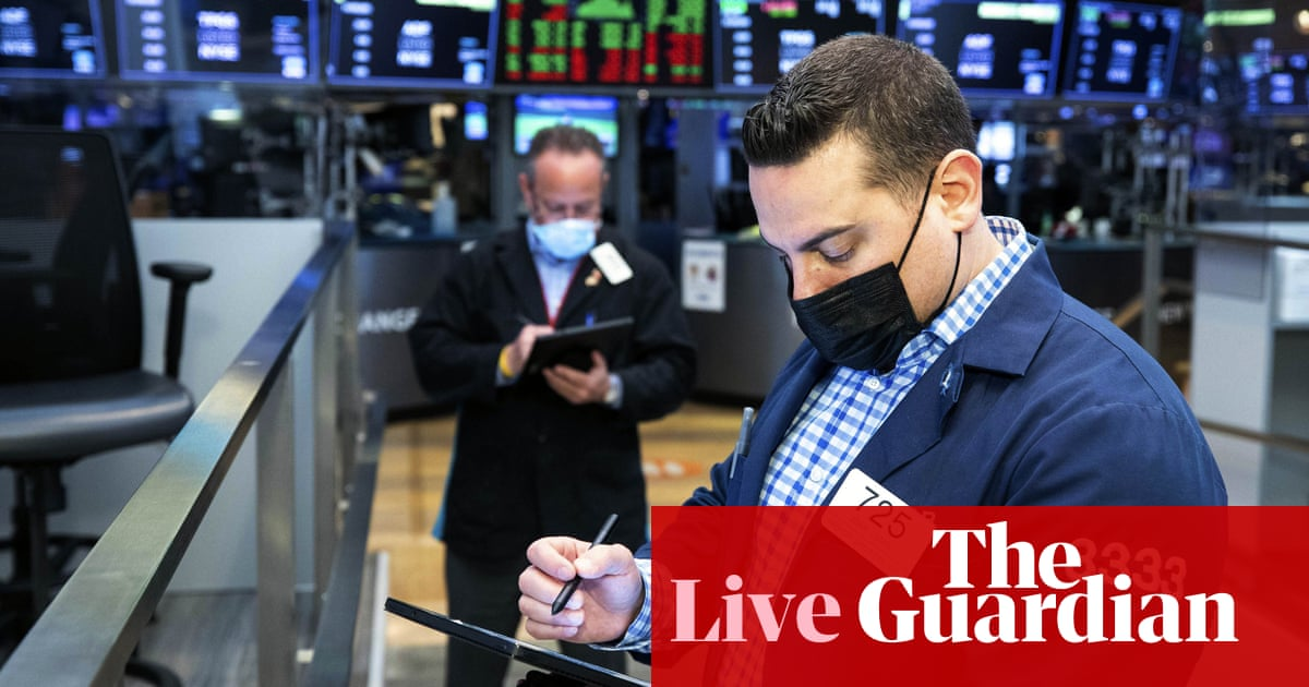World stocks rise to fresh record highs as bond yields ease – business live