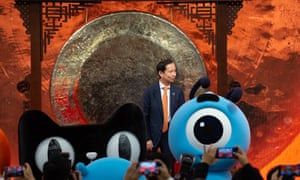 Daniel Zhang, Chief Executive Officer of Alibaba Group, as the company floats on the Hong Kong stock exchange.