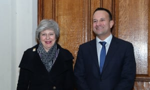 Theresa May an Leo Varadkar in Dublin.