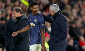 The only player spared José Mourinho's wrath after the draw at Southampton was Marcus Rashford, who had to be substituted after picking up a knock.