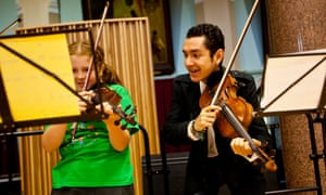 Vaizey singled out the work of the In Harmony project, which teaches children classical music
