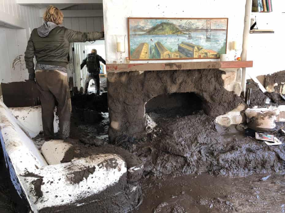 Inside a home in Montecito, California, which was hit by the mudslide.