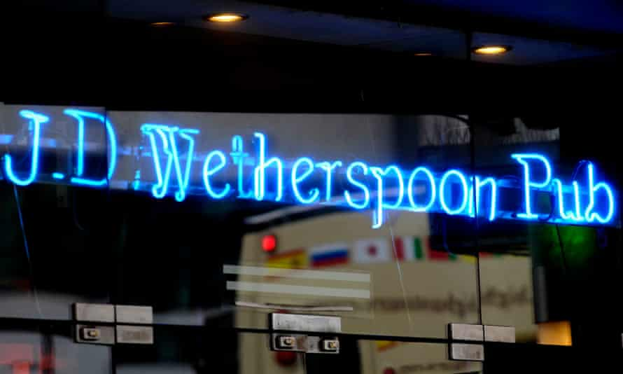 Wetherspoons pub sign