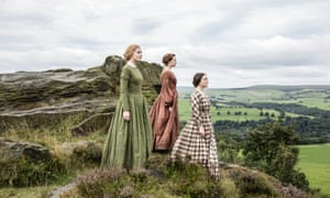 Charlie Murphy, Chloe Pirrie and Finn Atkins as Anne, Emily and Charlotte Brontë