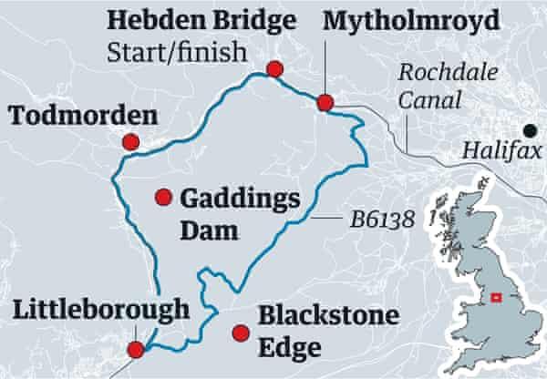 Calder caper map