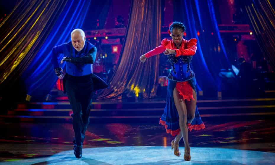 Bill Bailey and Oti Mabuse performing in the final of Strictly Come Dancing.