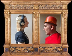 The duke looked every bit as gloomy as me ... John Crace and his wife Jill recreate a Piero della Francesca painting.
