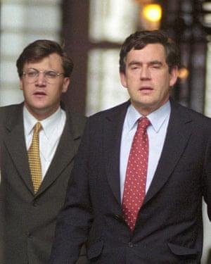 Chancellor Gordon Brown with Ed Balls, then his advisor, in 1997.
