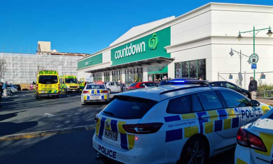 New Zealand police respond to a stabbing attack at a supermarket in the city of Dunedin