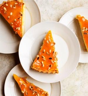 Apricot and ricotta tart.