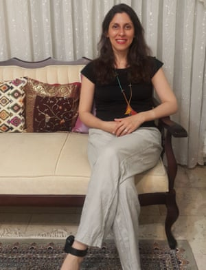 Zaghari-Ratcliffe wearing an ankle tag in west Tehran following her release from prison