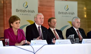 Carwyn Jones, far right, in Cardiff this July discussing the celtic nations' role in Brexit, with (from left) Scotland's first minister, Nicola Sturgeon, Northern Ireland deputy first minister, Martin McGuinness, and Irish taoiseach, Enda Kenny.