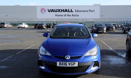 A Vauxhall Astra at Ellesmere Port plant