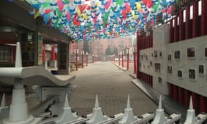 The deserted entrance to the Baijiazhuang primary school in Beijing.