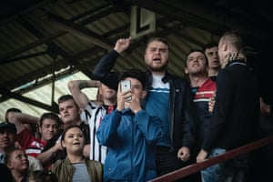 The first penalty of the season is missed and the Dunfermline fans are not happy. All will be well in the end as they go on to defeat Dumbarton by the odd goal in seven.