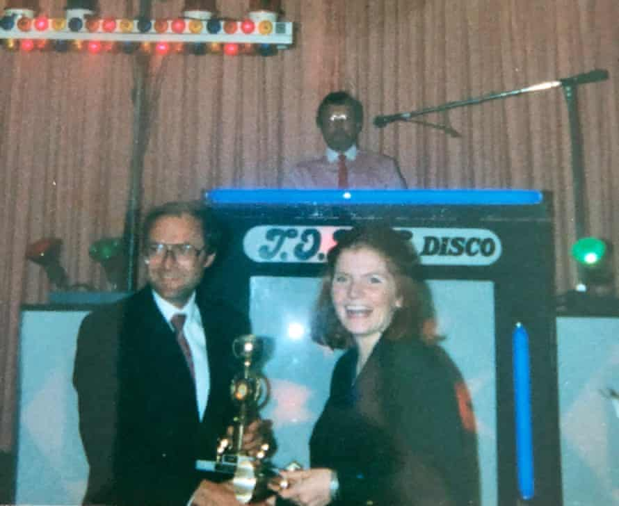 Cathy Rentzenbrink winning the Snaith and District Ladies' darts trophy when she was 17