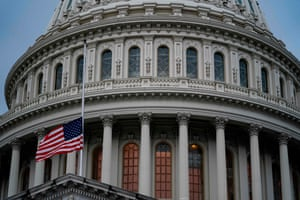 The US flag flies at half-staff at the US Capitol on September 11, 2020 in Washington, DC.