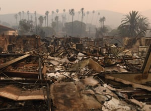 The remains of the Vista del Mar Hospital after the Thomas wildfire swept through Ventura.