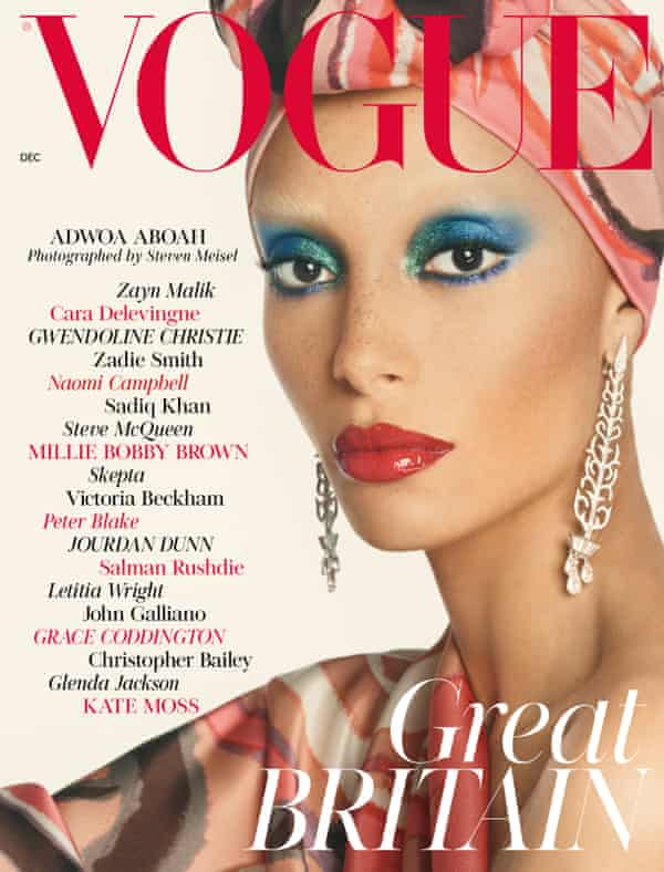 Adwoa Aboah from Edward Enninful's first issue as editor of British Vogue, December 2017