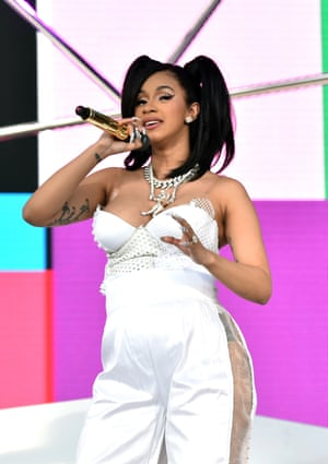 Cardi B performs during at Coachella 2018.