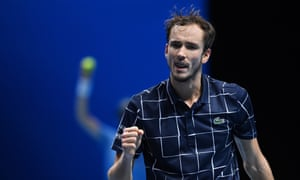 Daniil Medvedev made a statement with a thumping 6-3, 6-3 win over Novak Djokovic.