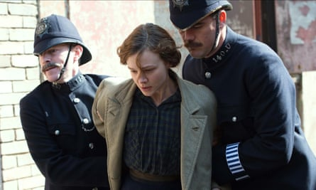 Carey Mulligan as the fictional laundress Maud Watts in Suffragette.