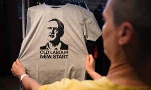 A T-shirt showing Jeremy Corbyn's face
