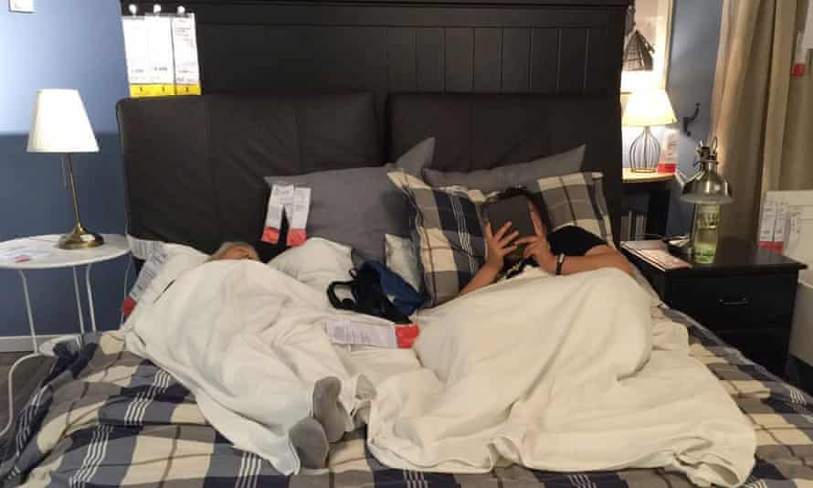 Customers rest in an Ikea store, Beijing, China, last week.