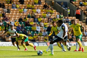 Scott Sinclair scores to put Preston ahead in front of fans at Carrow Road.