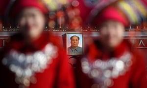 Portrait of Mao Zedong in Tiananmen Square, Beijing.