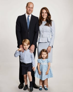 The new photograph of the Duke and Duchess of Cambridge with Prince George and Princess Charlotte.