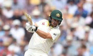 Travis Head on his way to a half-century for Australia