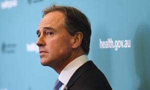 The health minister Greg Hunt.