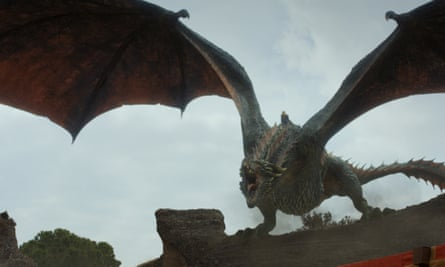 Flight of fancy … a dragon in Game of Thrones.
