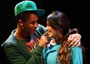 Simon Coombs and Farzana Dua Elahe in What Fatima Did by Atiha Sen Gupta at Hampstead theatre.