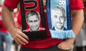 Scarves with José Mourinho and Pep Guardiola on them