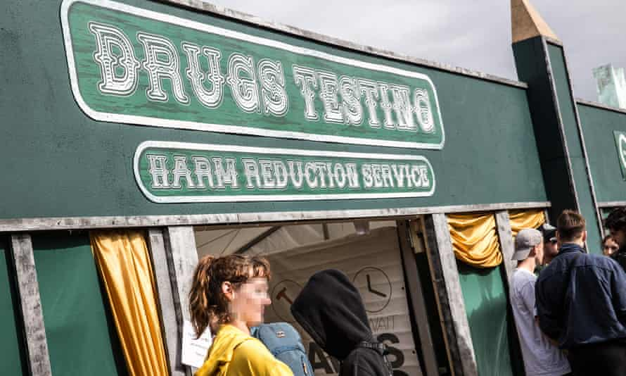The drugs harm reduction service at Boomtown in 2018.