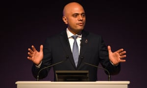 The home secretary, Sajid Javid