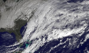 A storm develops over the Atlantic on 26 January 2015.