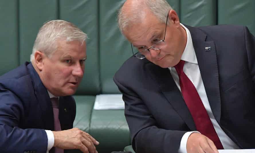Australia's deputy prime minister Michael McCormack and prime minister Scott Morrison