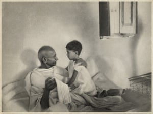 """'Right from the first moment he put me and my younger sister at ease"""": Arun and Mohandas K Gandhi."""