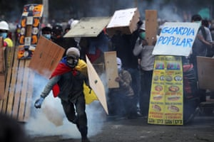 Quito, Ecuador: protesters clash with police on the 10th consecutive day of anti-government protests